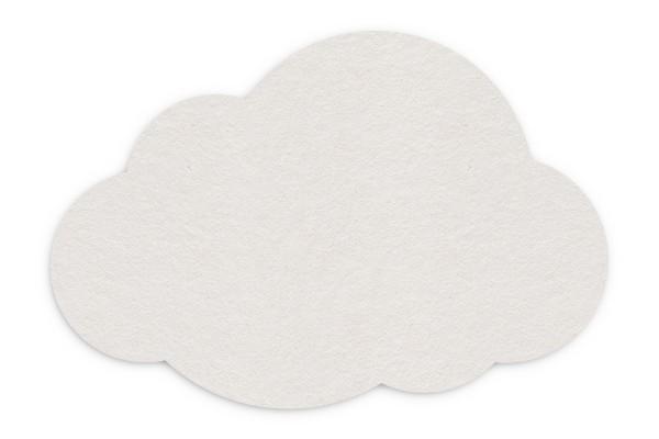 Bierdeckel blanko Wolke 140x95 mm