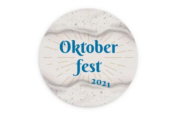 Motiv Bierdeckel Oktoberfest Kreis Ø 107 mm