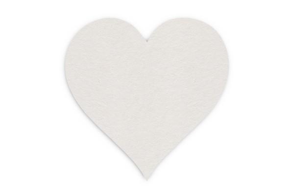 Bierdeckel blanko Herz 120x120 mm