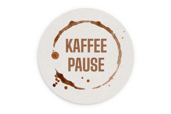Motiv Untersetzer Kaffepause Kreis Ø 107 mm