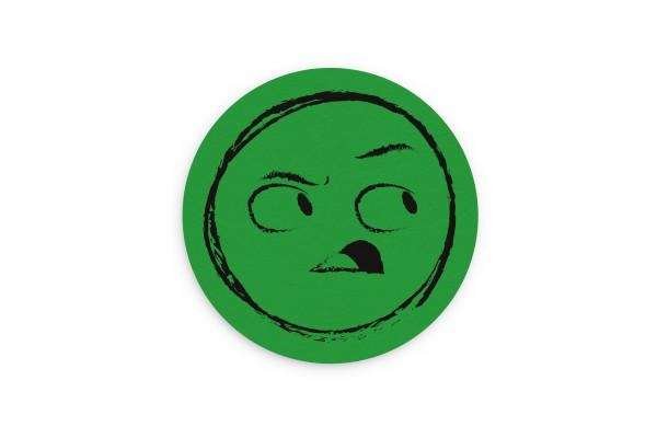 Motiv Untersetzer Smiley grün Kreis Ø 90 mm