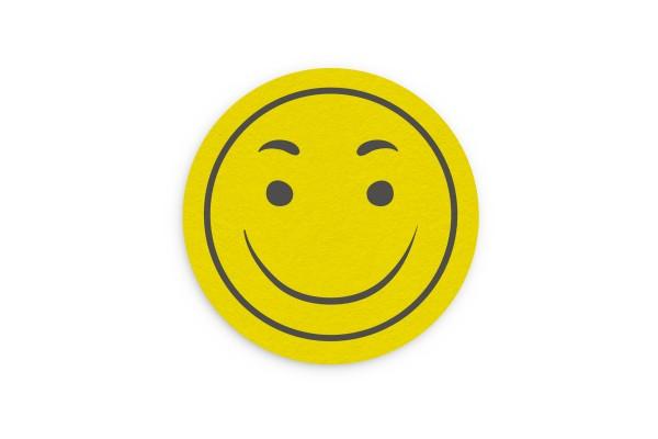 Motiv Untersetzer Smiley gelb Kreis Ø 90 mm
