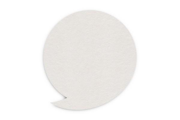 Bierdeckel blanko Sprechblase 100x107 mm
